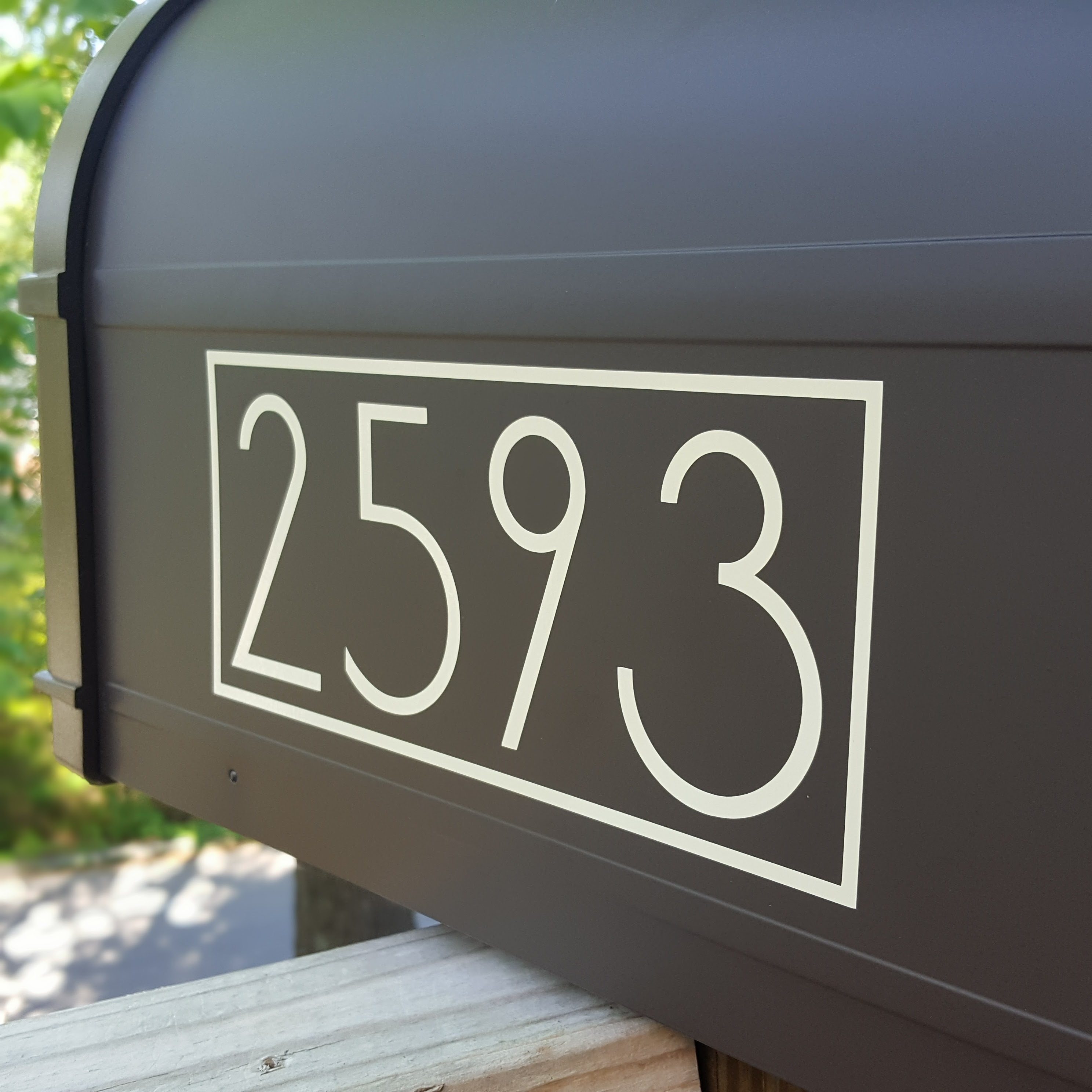 Modern mailbox decals with your exact house numbers - ^