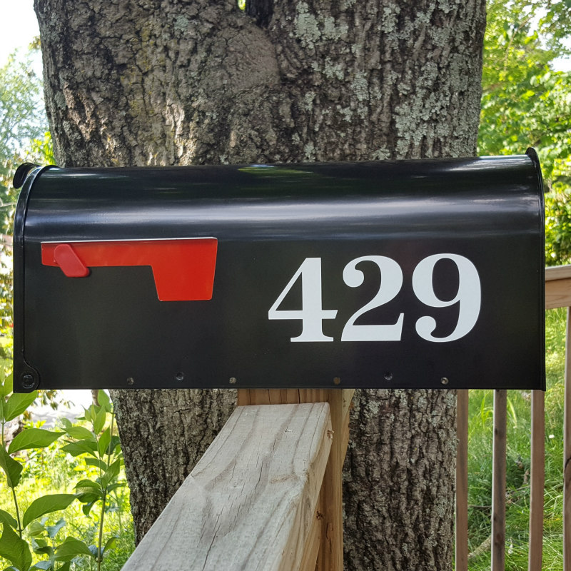 Antiqua Traditional Style Mailbox Numbers