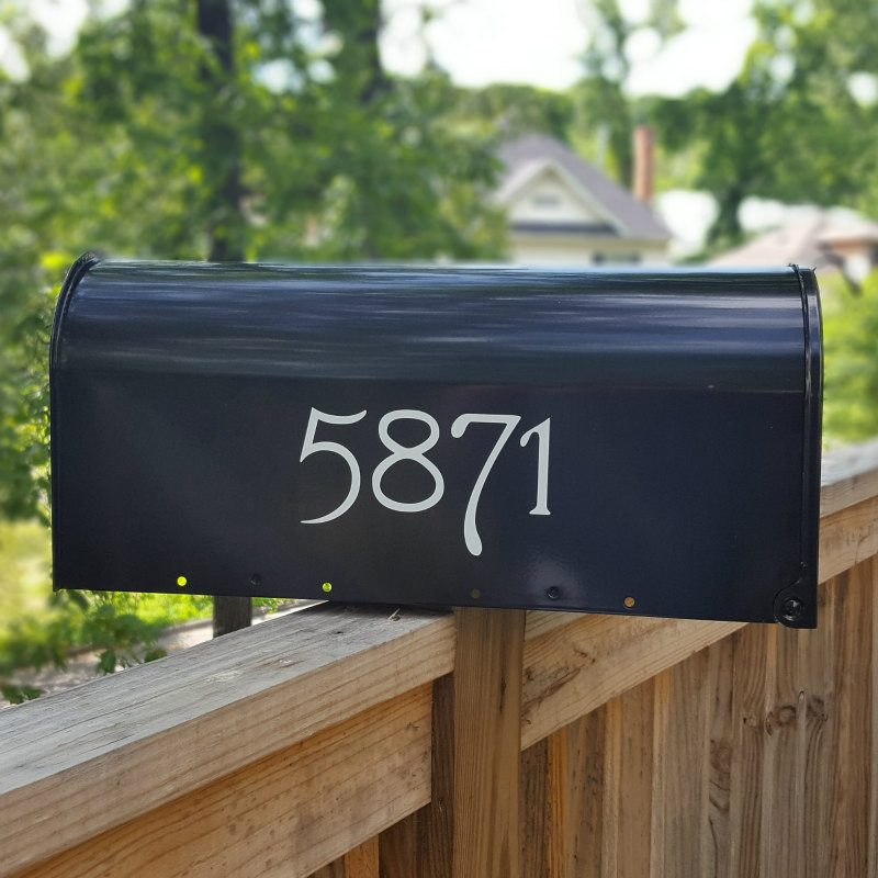 Reflective Mailbox Numbers And Letters